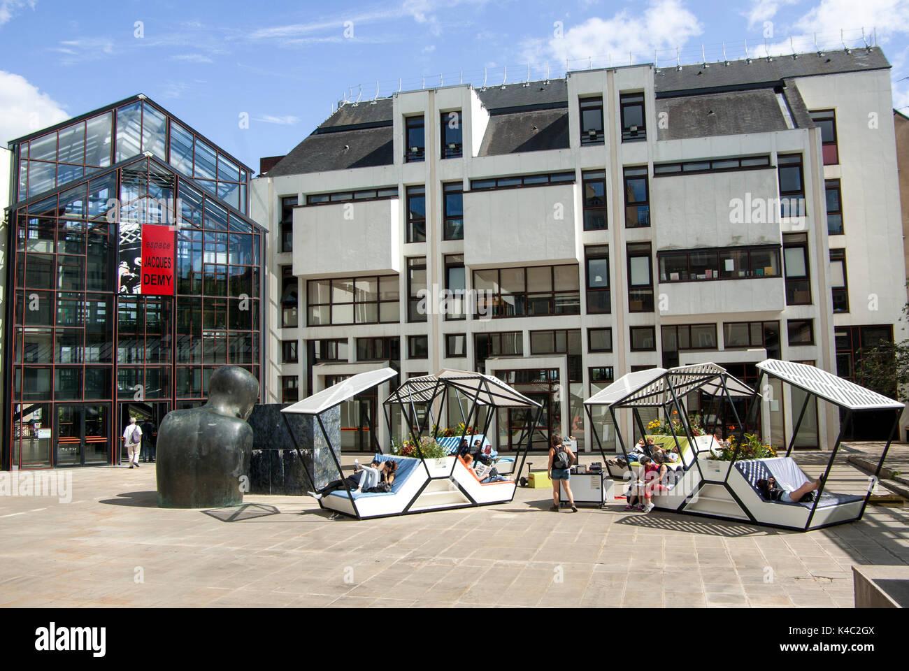 Médiathèque Jacques Demy Nantes Pays De La Loire France Stock Photo Alamy