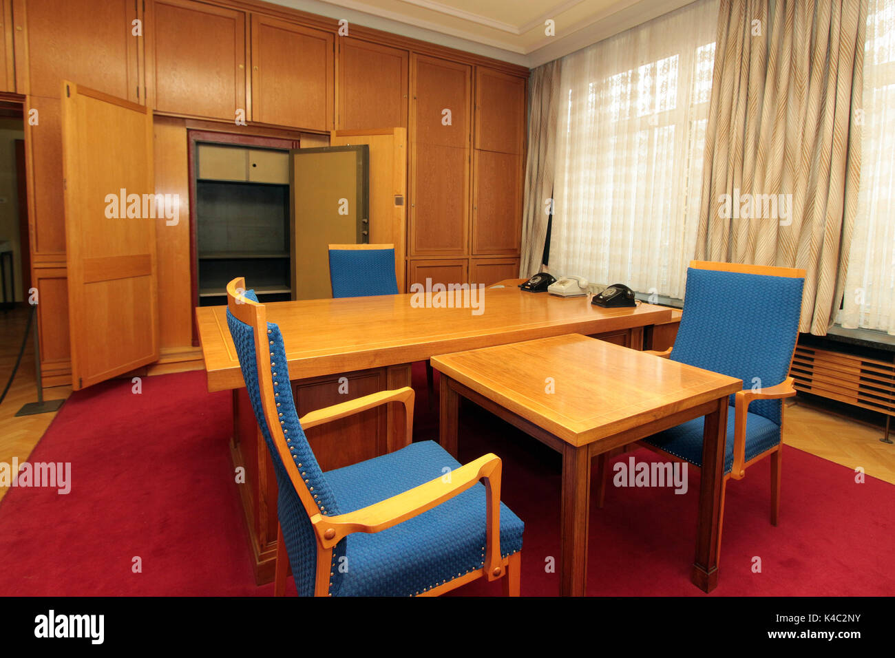 Office Of Former Secretary Of State Security, Erich Mielke, Gdr - Stock Image