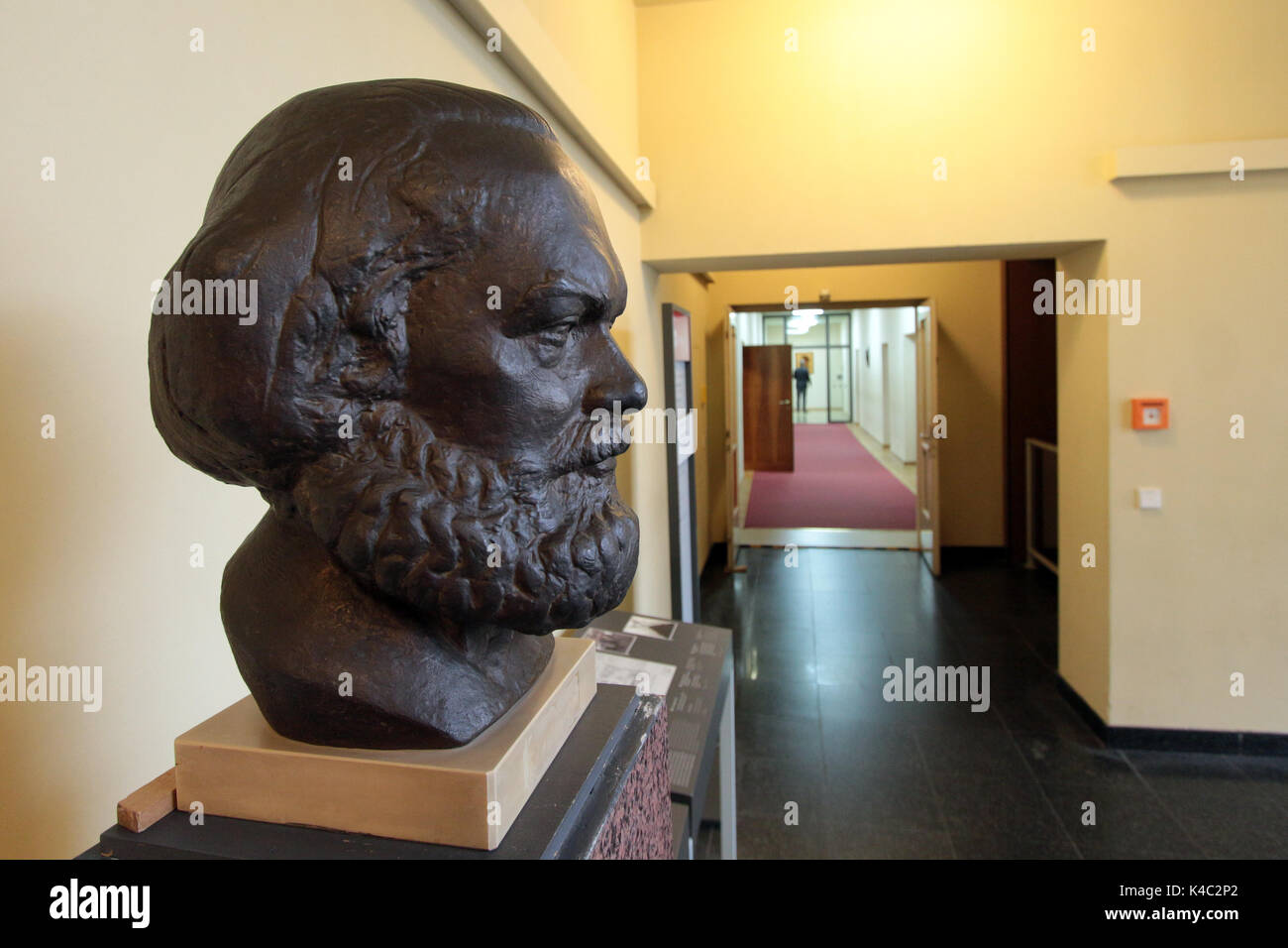 Sculpture Of Karl Marx In The Hallway Of Former Gdr S Ministry Of State Security - Stock Image