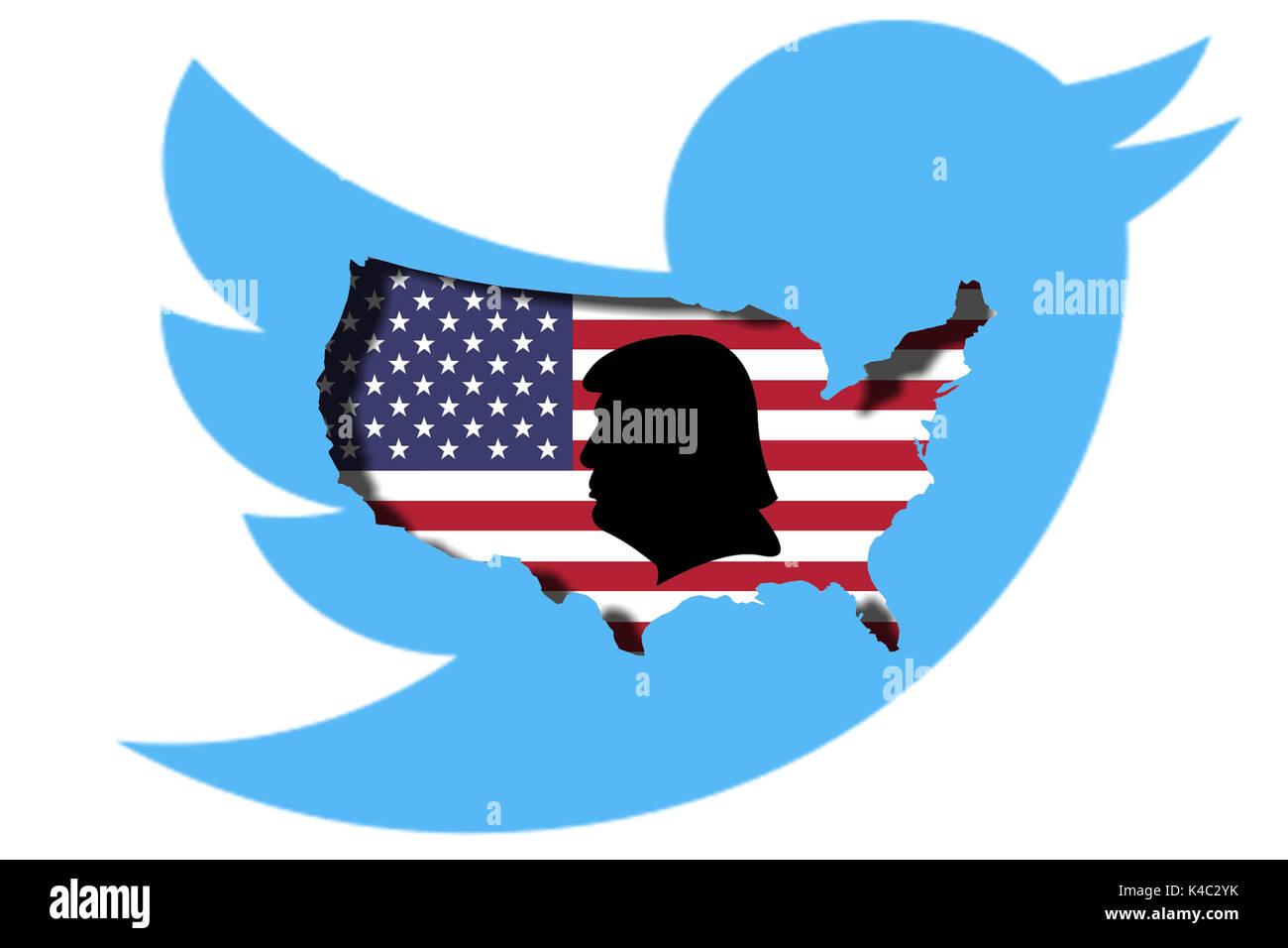Twitter Presidency Of Donald Trump - Stock Image