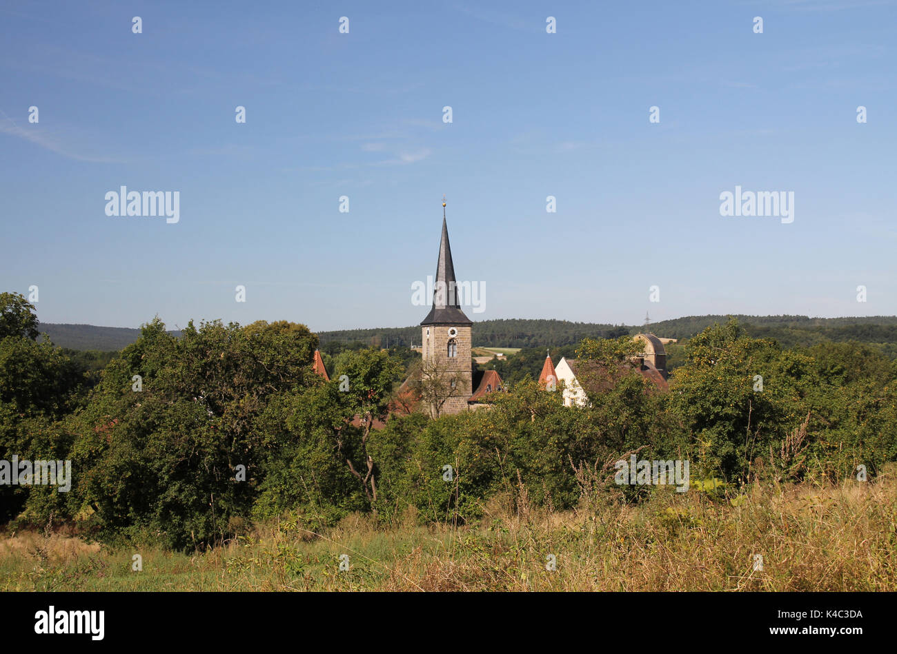 Sesslach In Upper Franconia, Picturesquely Situated, Coburg County - Stock Image