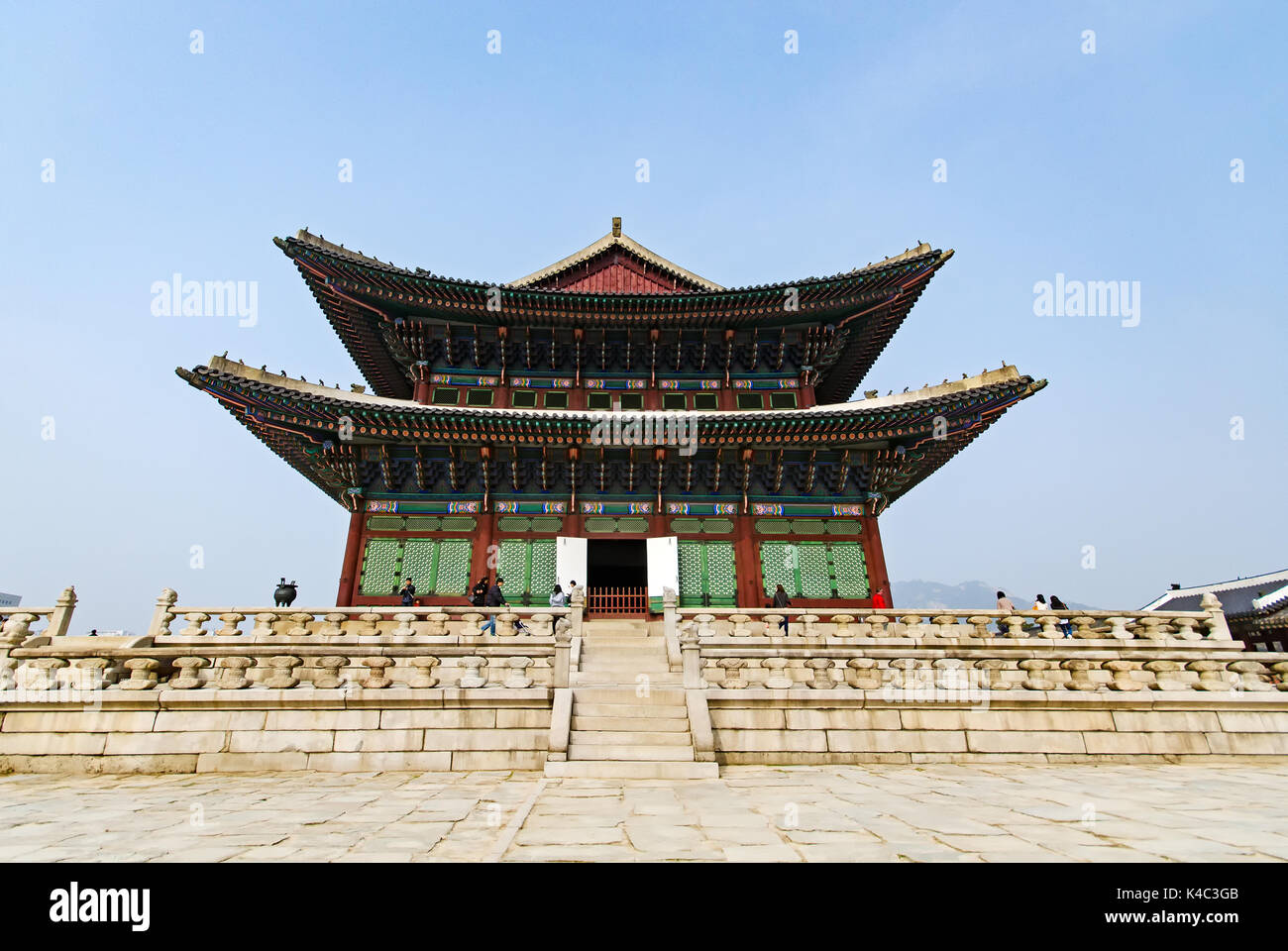 Gyeongbukgung palace also known as Gyeongbokgung Palace or Gyeongbok Palace, was the main royal palace of the Joseon dynasty. Located in Seoul, South  - Stock Image