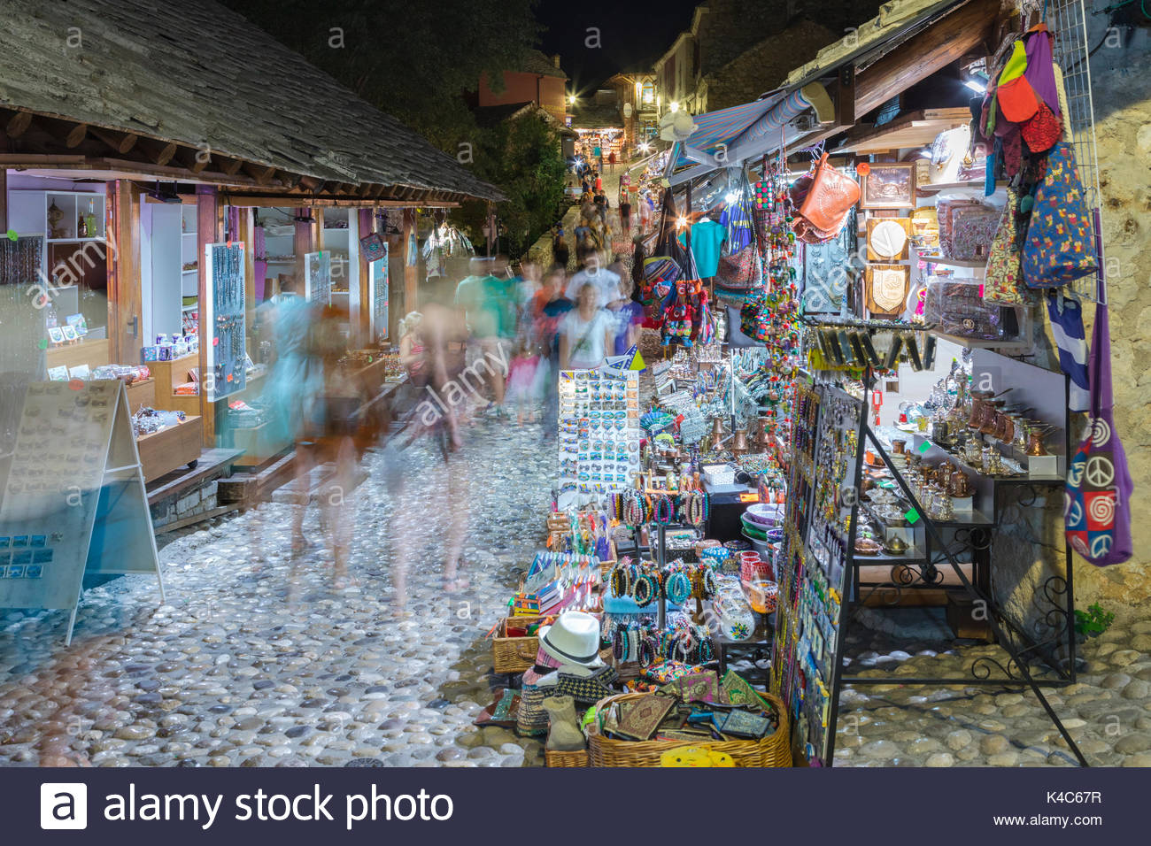 Souvenirs on sale in Old Town market, Mostar, Bosnia and Herzegovina - Stock Image