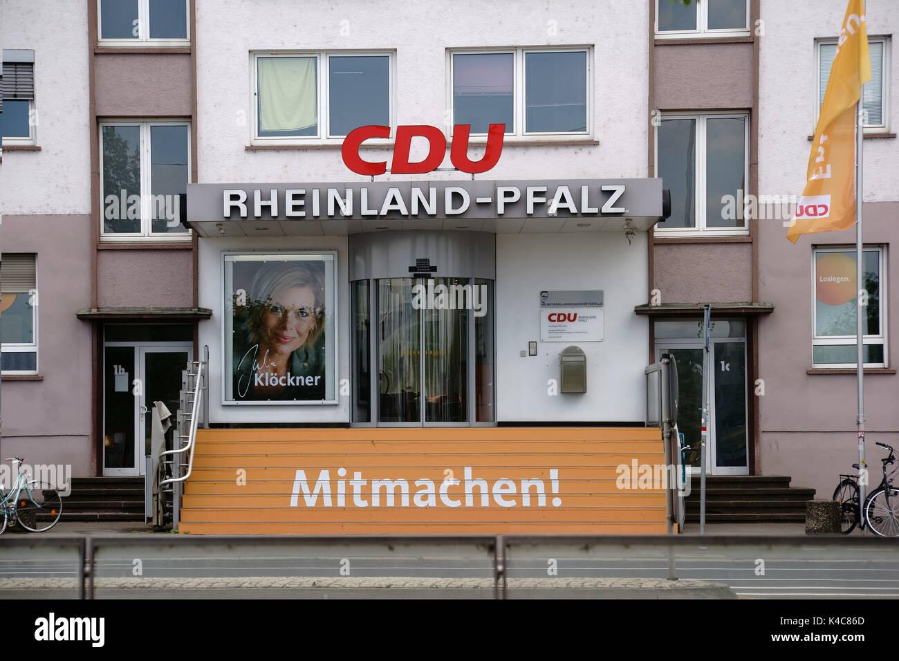 Cdu Party Headquarters Rhineland Palatinate - Stock Image