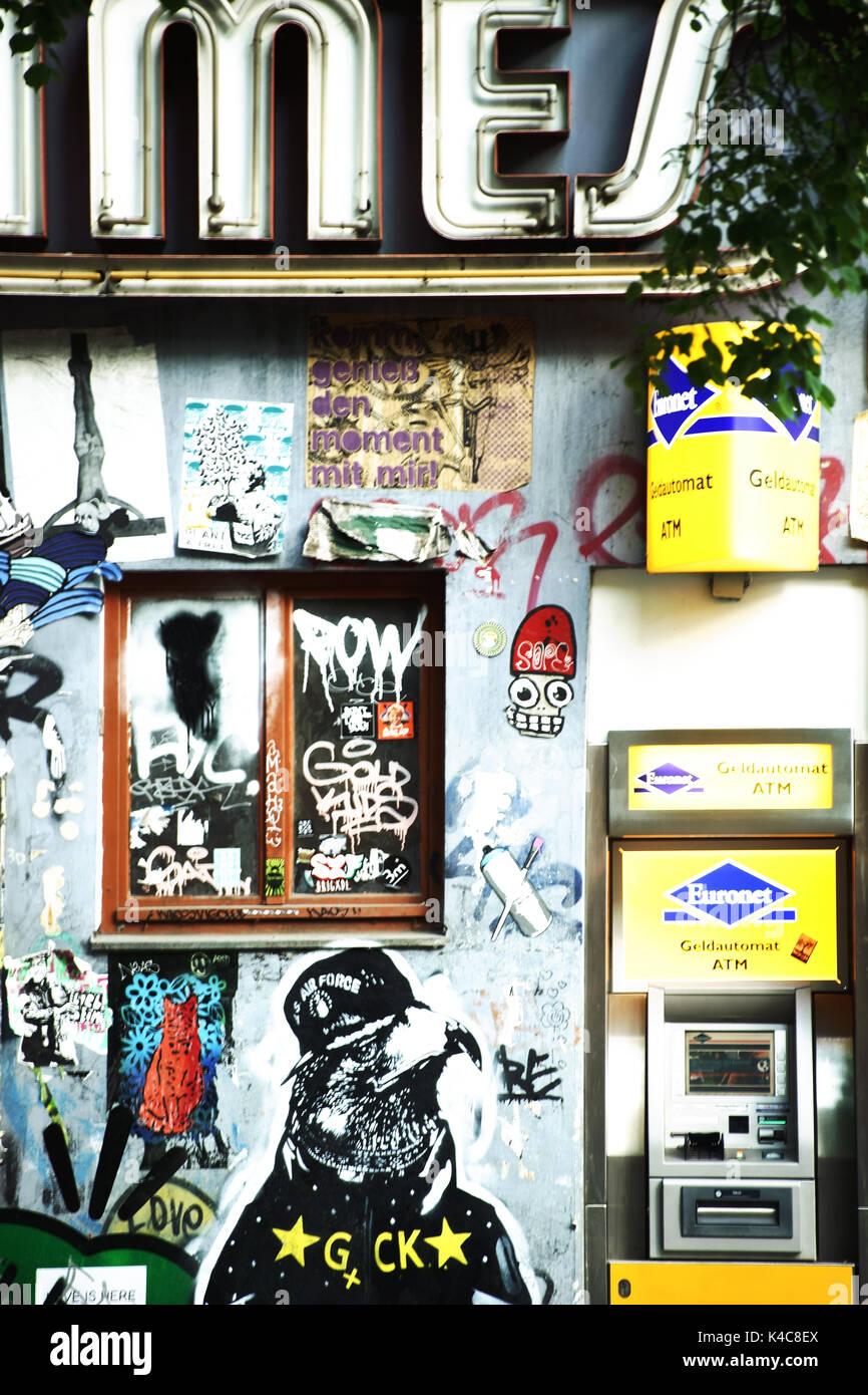 Graffiti In Berlin Friedrichshain Stock Photo