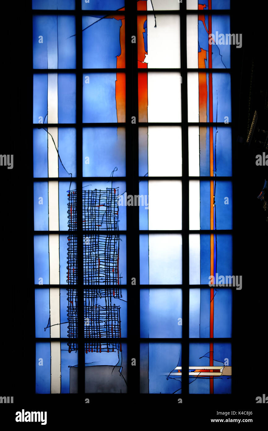 Modern Chapel Window Dome Mainz - Stock Image
