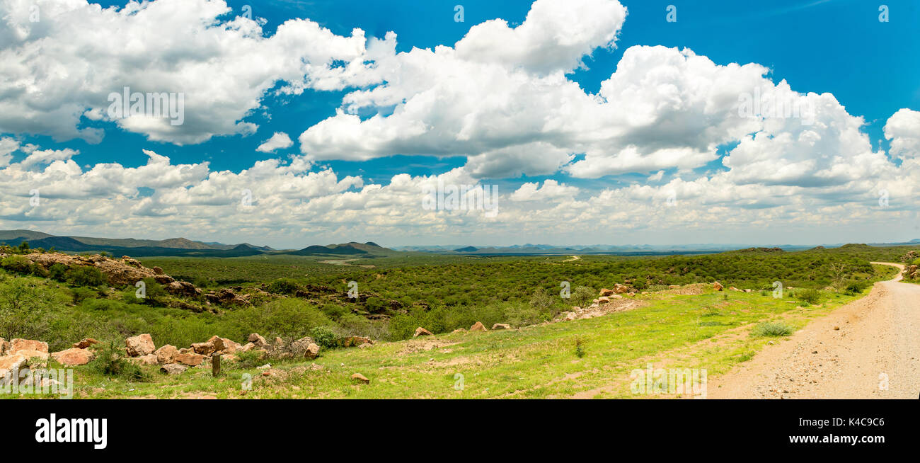 Overlooking The Von Bach Dam Nature Reserve Road D 2102 To Okahandja Namibia - Stock Image