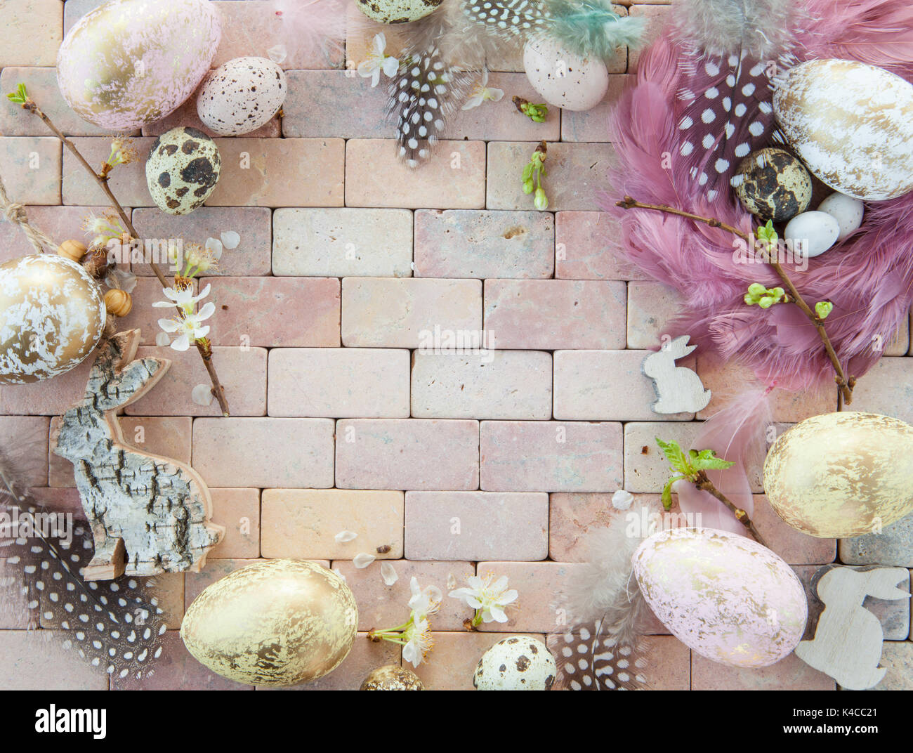 Colorful Easter Decorations - Stock Image