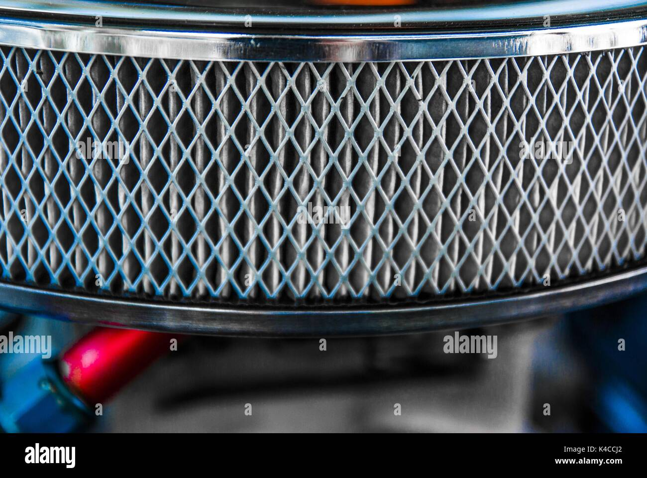Chromed Air Filters - Stock Image