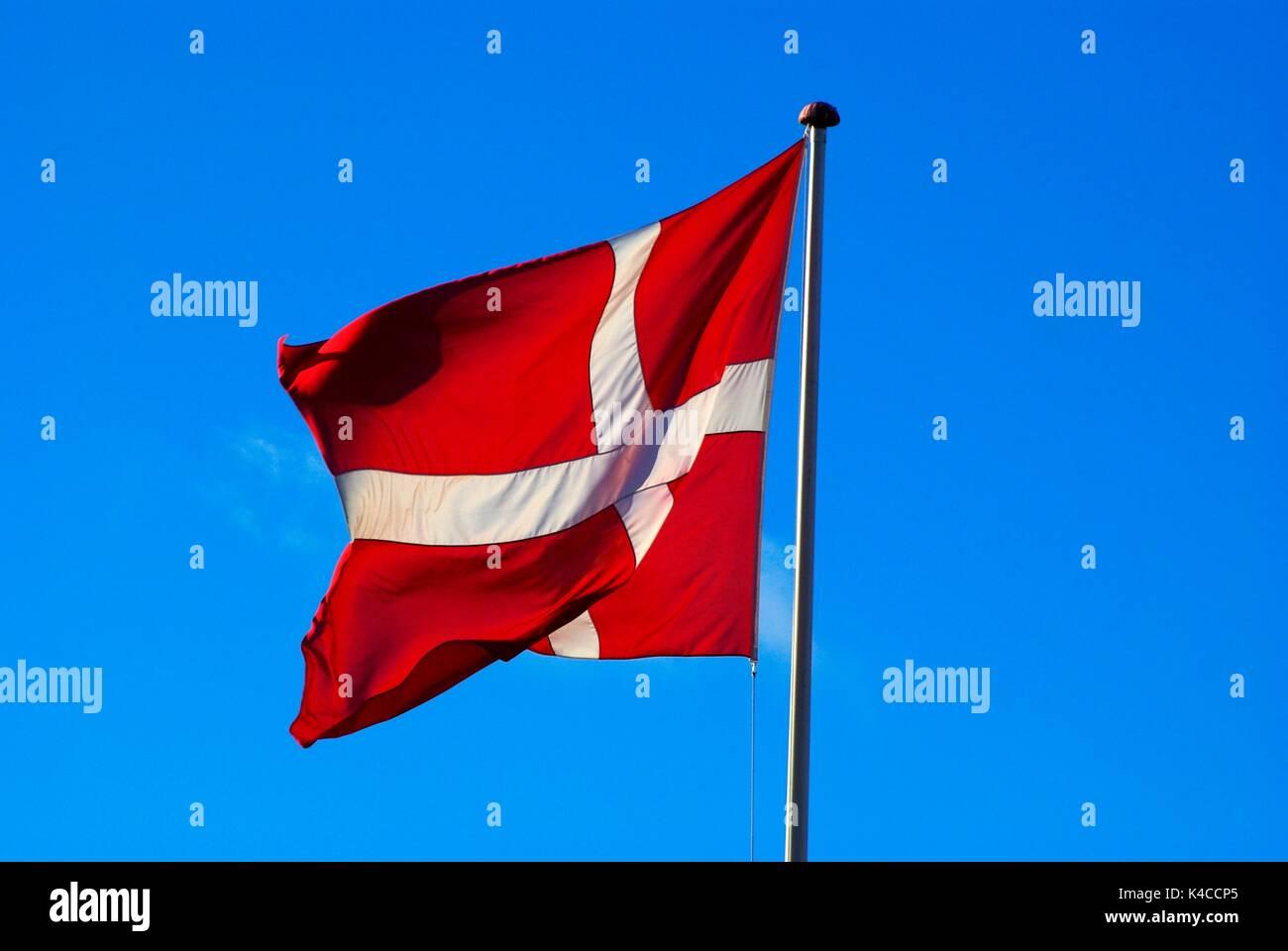 Danebrock, Dannebrog, Flag - Stock Image