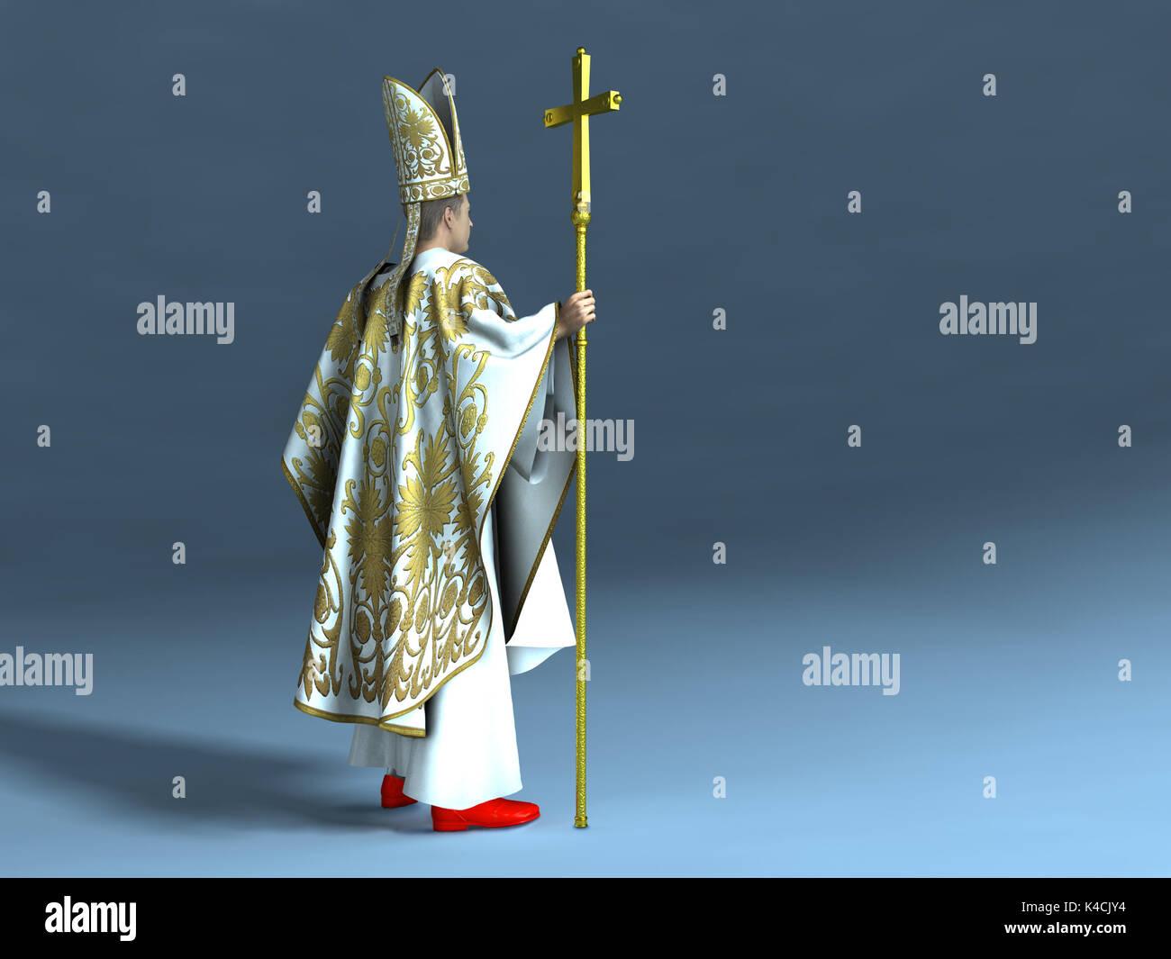 Catholic pope - Stock Image