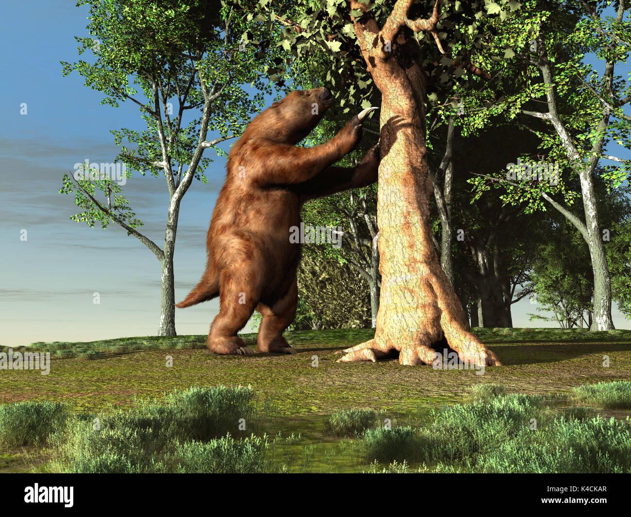 Giant sloth - Stock Image