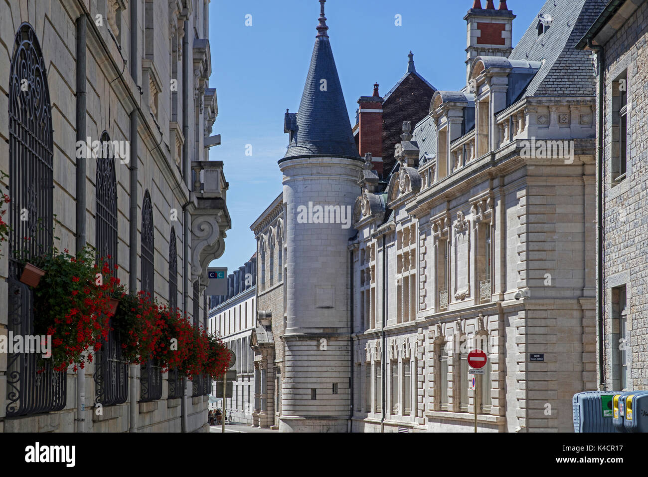 Historical buildings in the old city of Besançon, Doubs, Bourgogne-Franche-Comté, France - Stock Image