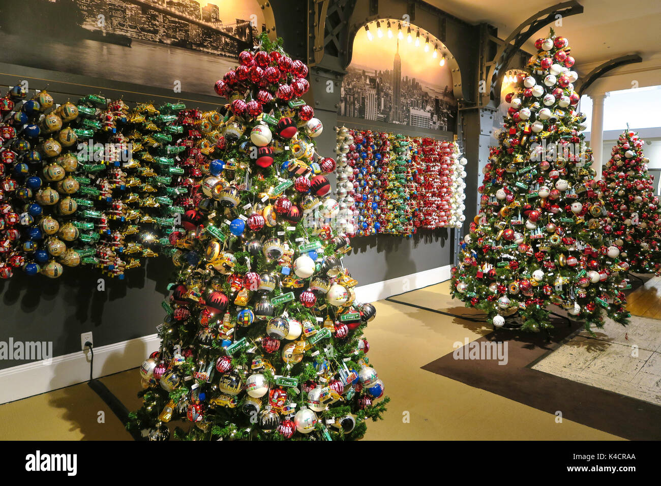 macys department store christmas displays nyc stock image - Macys Christmas Decorations
