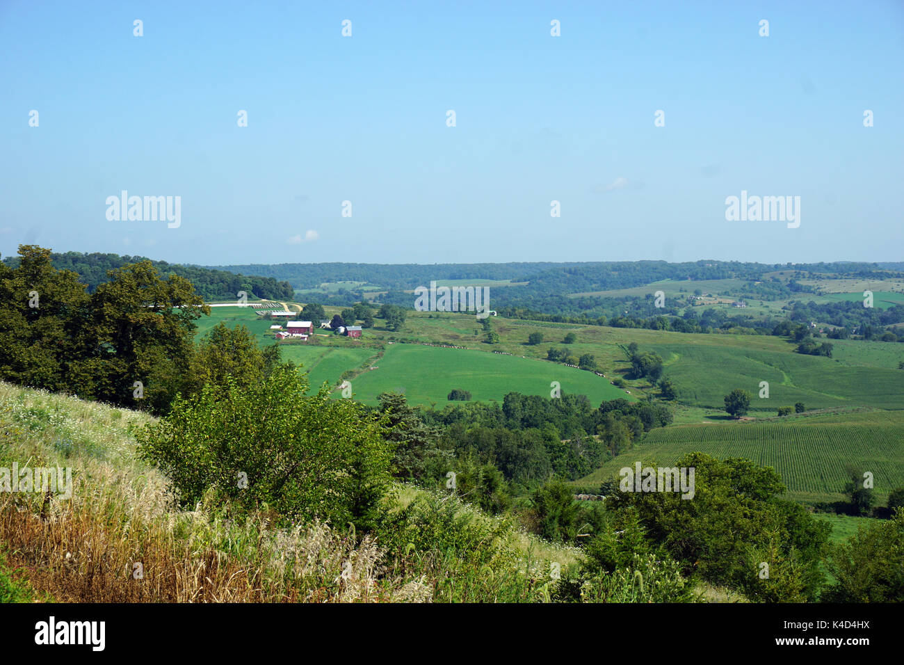 Farms as seen from a scenic turnout - Stock Image