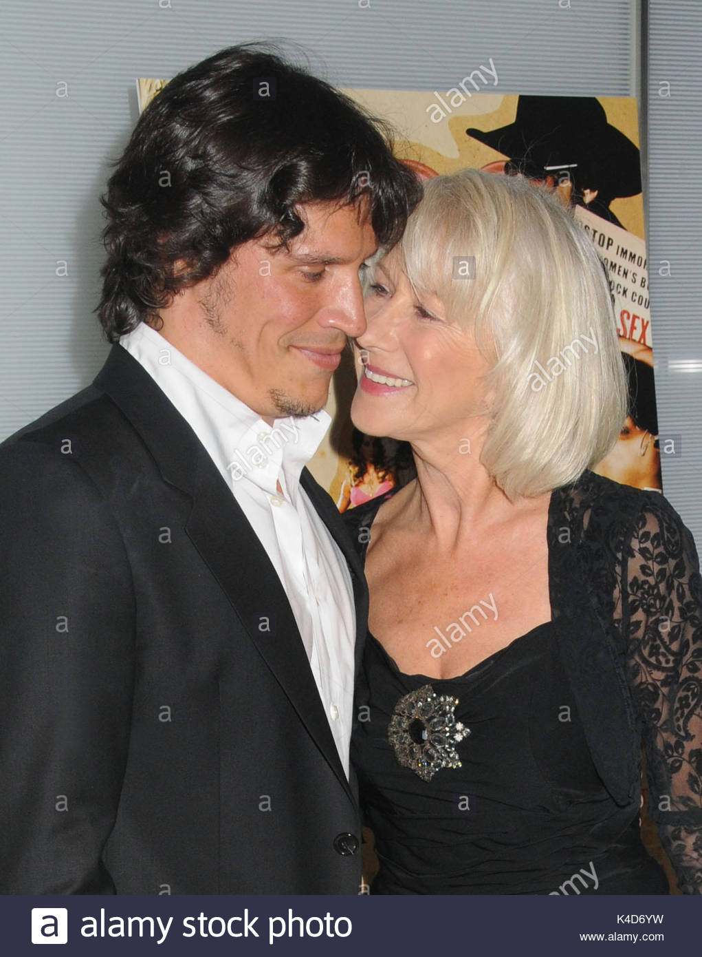 Sergio Peris Mencheta And Helen Mirren The Cast Of Love Ranch Arrive For The Films New York Premiere Held At The Dolby Screening Room Nyc