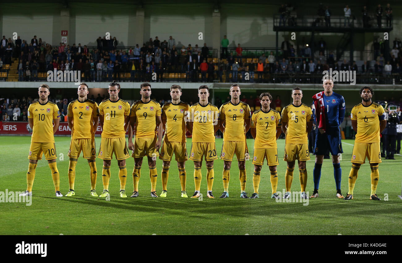 Wales Team Group Before The 2018 Fifa World Cup Qualifying D Match At Stadionul Zimbru In Chisinau Moldova Press Association Photo