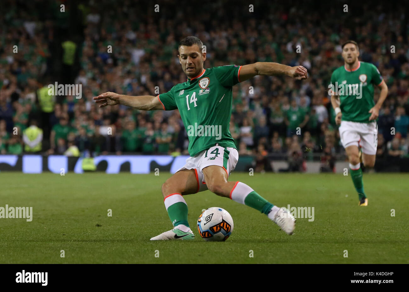 Republic Of Ireland S Wes Hoolahan During The 2018 Fifa World Cup Qualifying Group D Match At Aviva Stadium Dublin