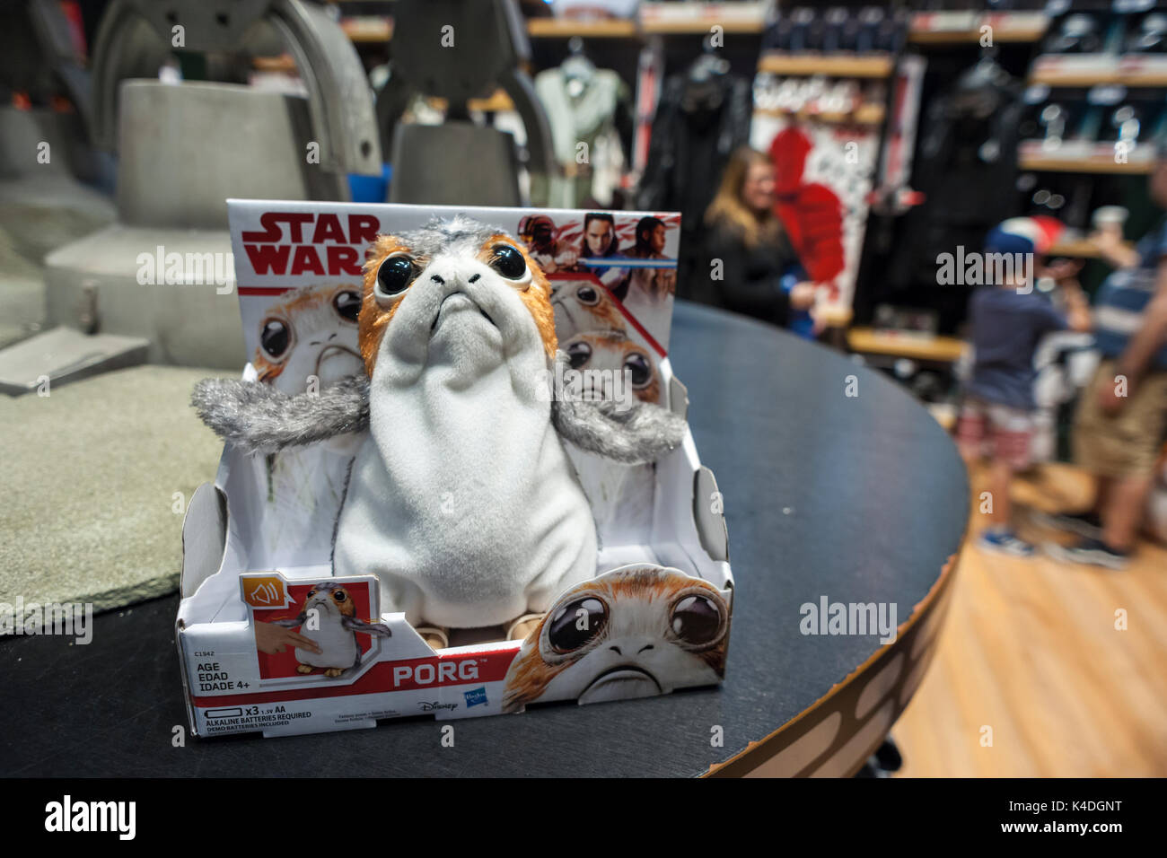 Star Wars merchandise in the Disney store in Times Square in