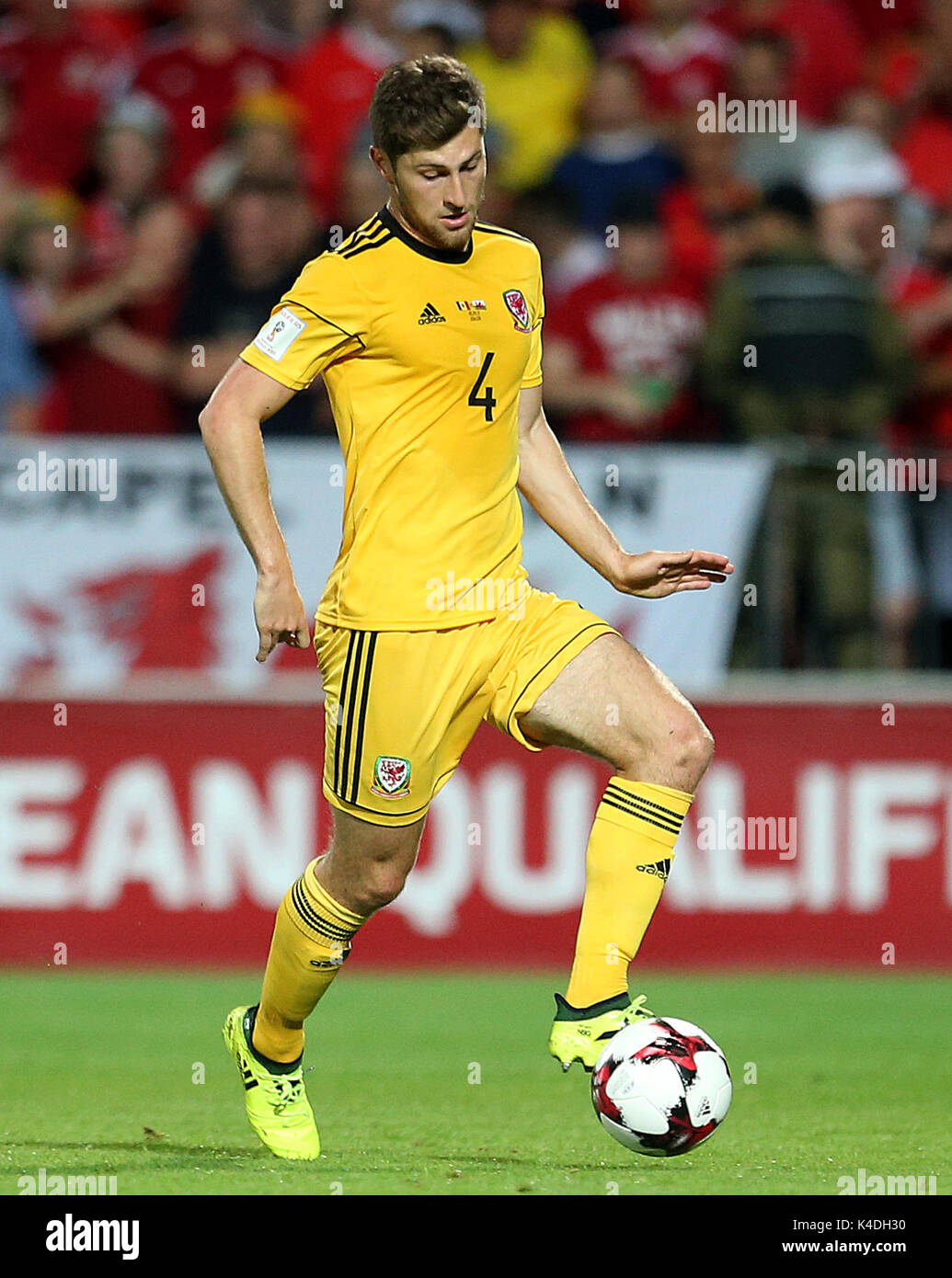 Wales Ben Davies During The 2018 Fifa World Cup Qualifying Group D Match At Stadionul Zimbru In Chisinau Moldova Press Association Photo