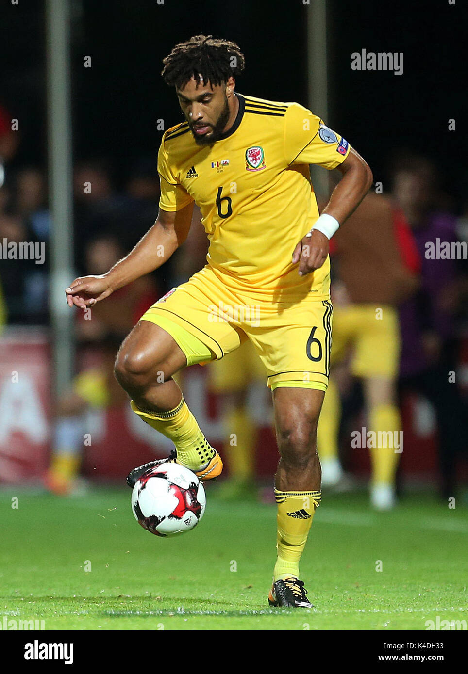 Wales Ashley Williams During The 2018 Fifa World Cup Qualifying Group D Match At Stadionul Zimbru In Chisinau Moldova Press Association Photo