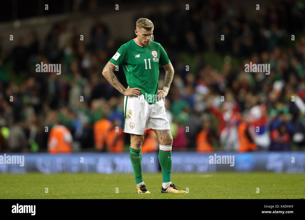 Republic Of Ireland S James Mcclean Looks Dejected After The 2018 Fifa World Cup Qualifying Group D Match At Aviva Stadium Dublin