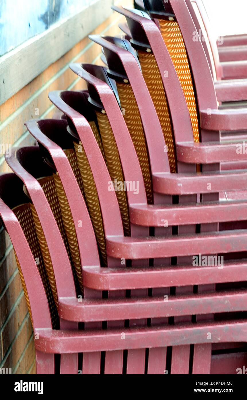 Stacked Chairs 2 Stock Photo