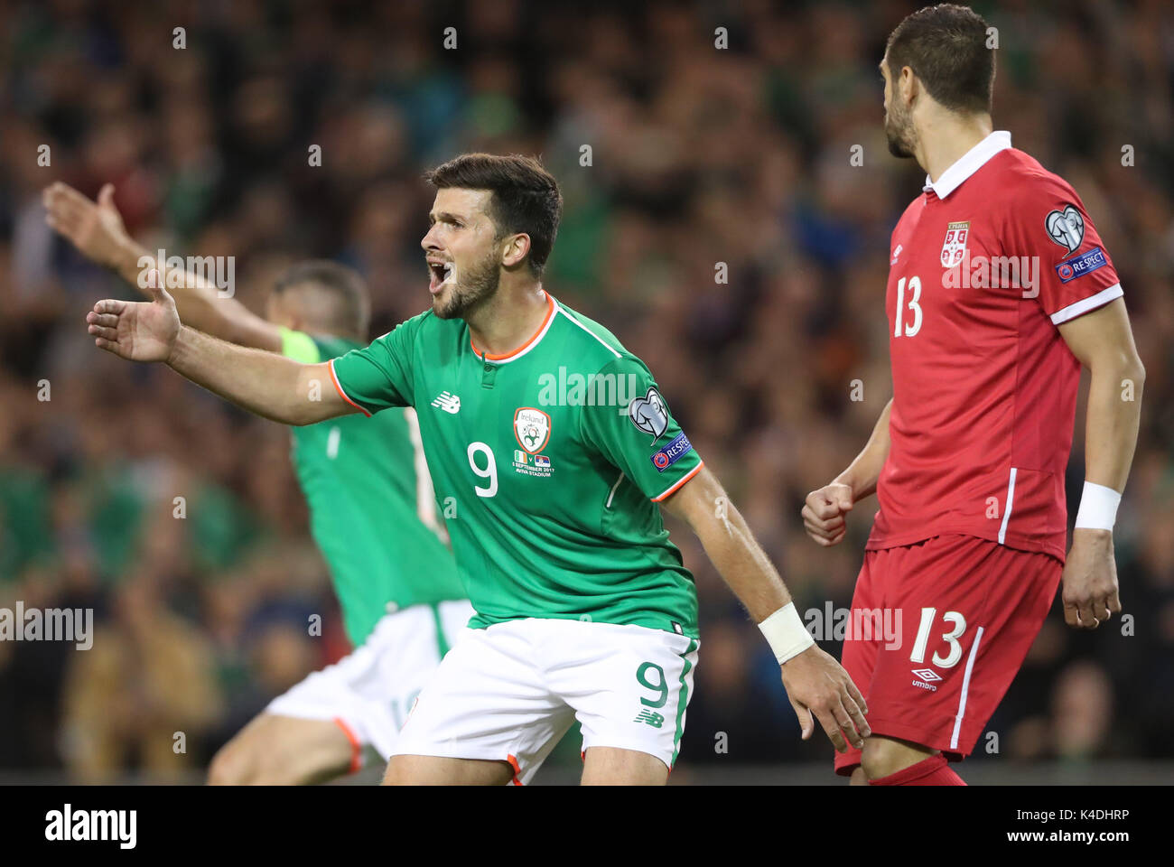 Republic Of Ireland S Shane Long During The 2018 Fifa World Cup Qualifying Group D Match At Aviva Stadium Dublin