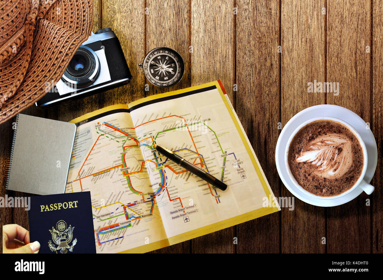 Travel planning concept - Stock Image