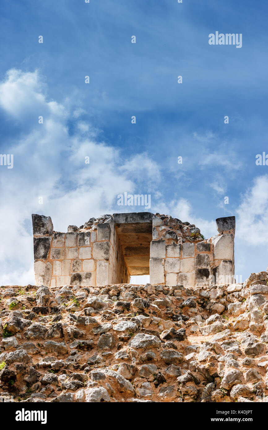 Detail of the ballcourt at Chichen Itza, Yucatan, Mexico - Stock Image