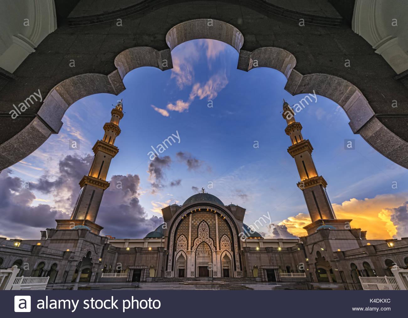 Federal territory mosque, Kuala Lumpur - Stock Image