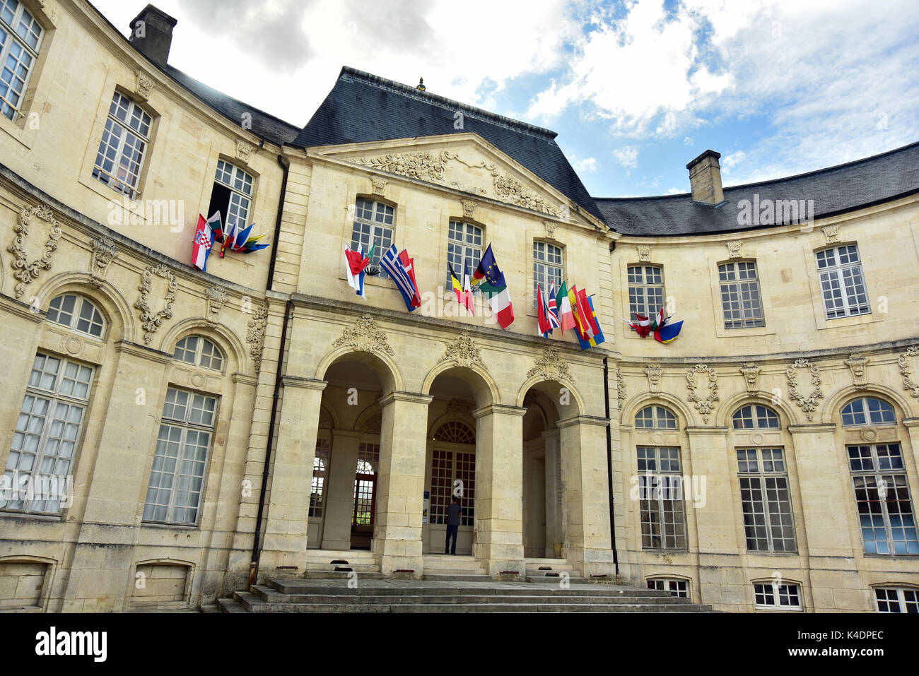 Verdun episcopal palace - Stock Image