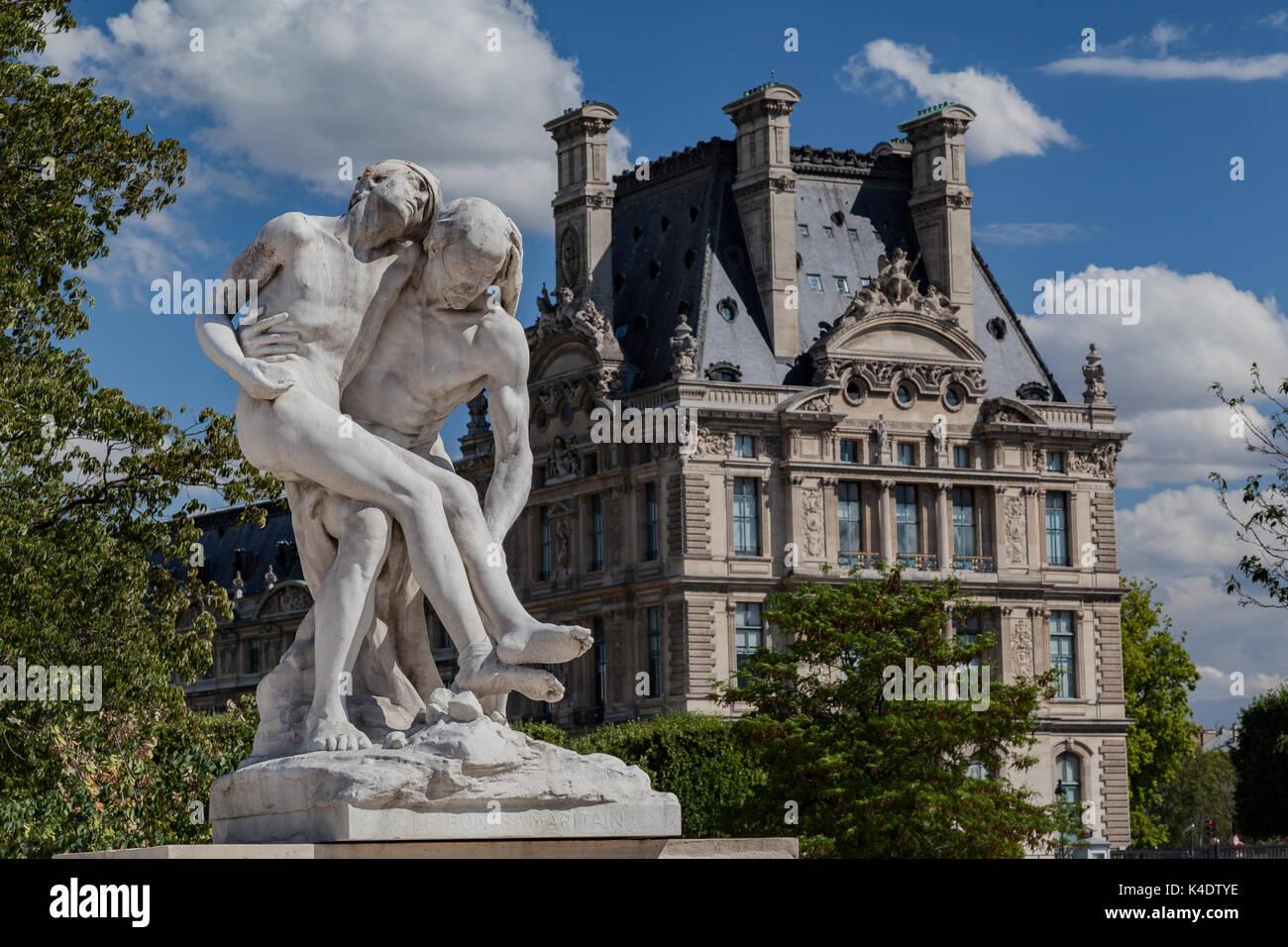 Sculpture Louvre Museum Paris France Stock Photo