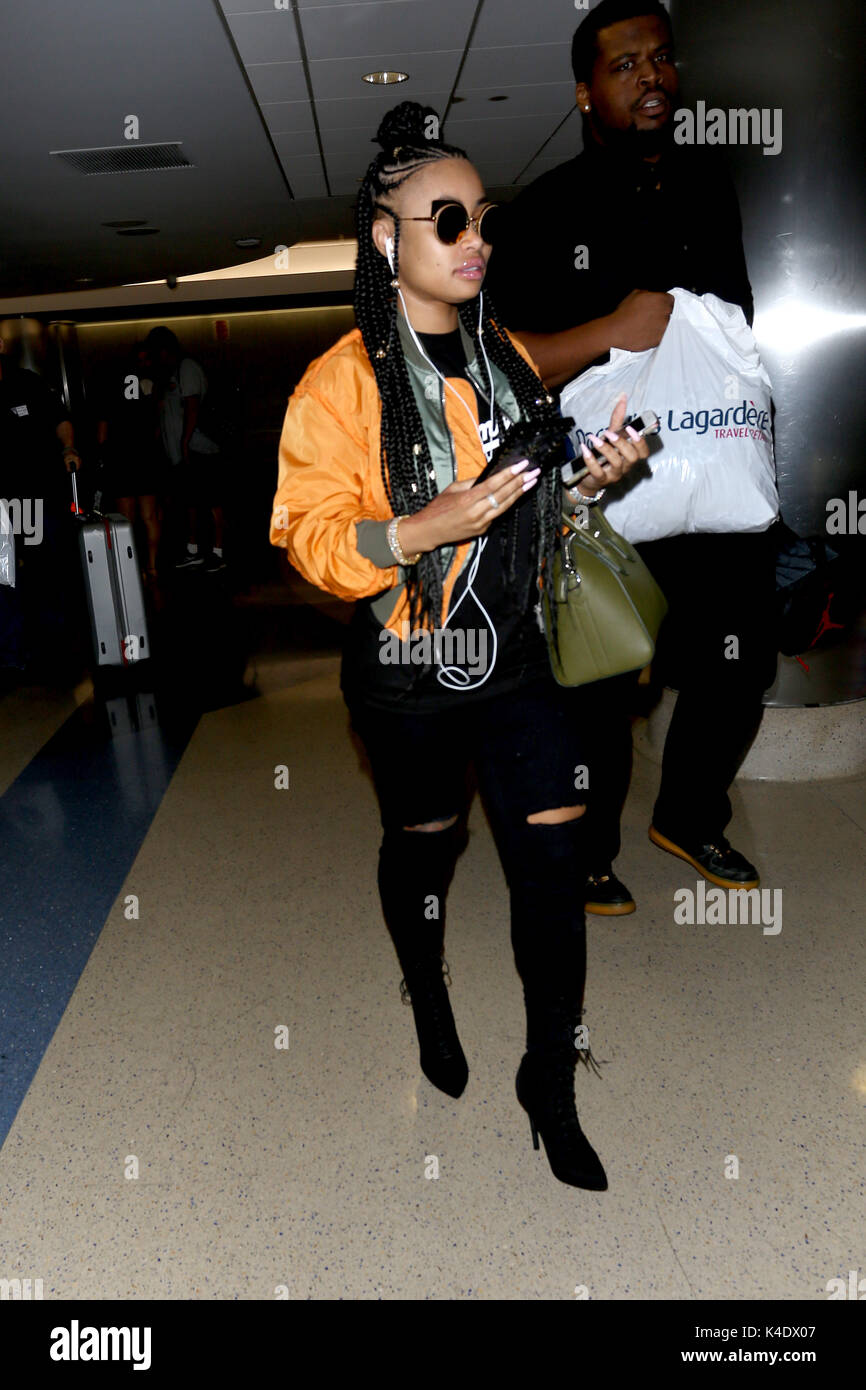 3da014554e3 Blac Chyna on her arrival at Los Angeles International Airport in Los  Angeles