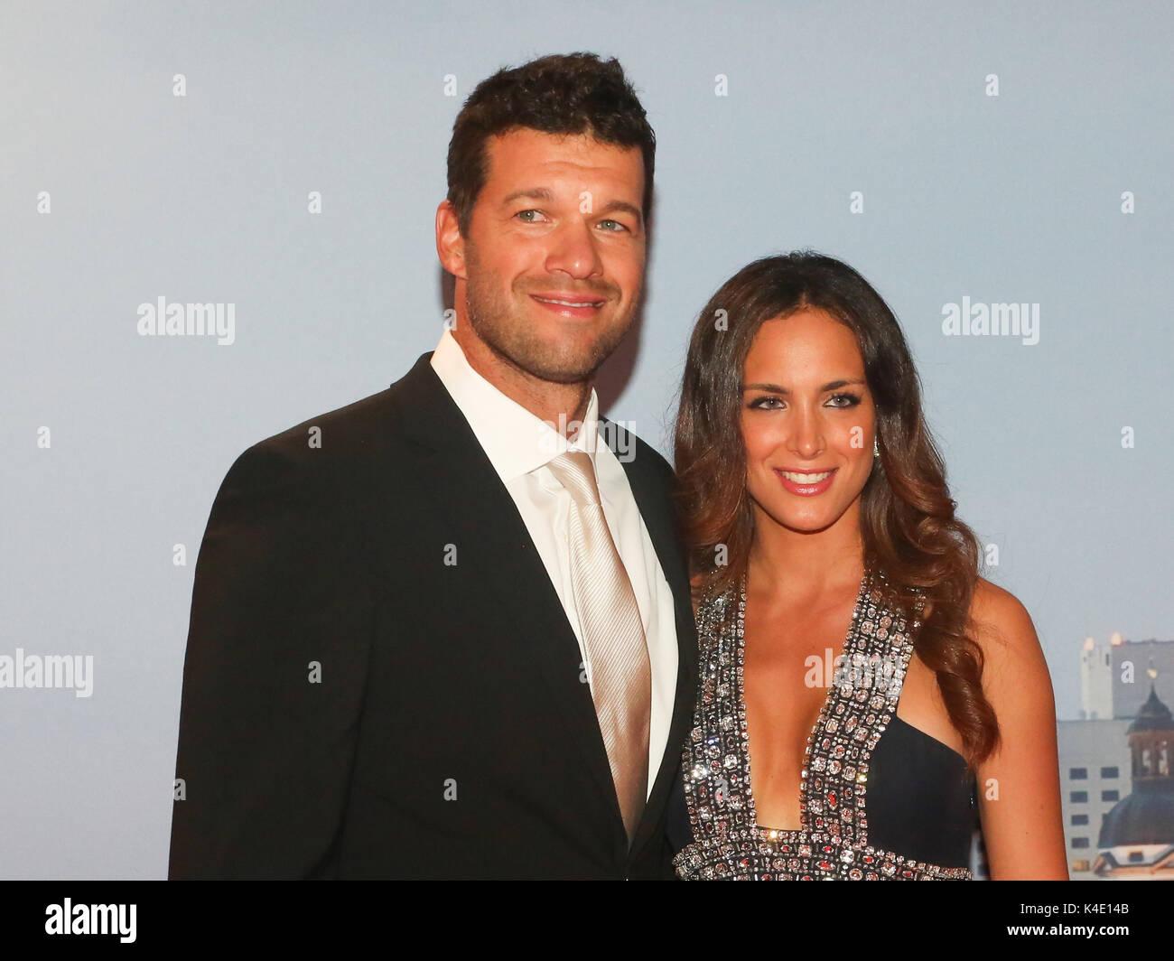Michael Ballack With Girlfriend Natacha Tannous - Stock Image