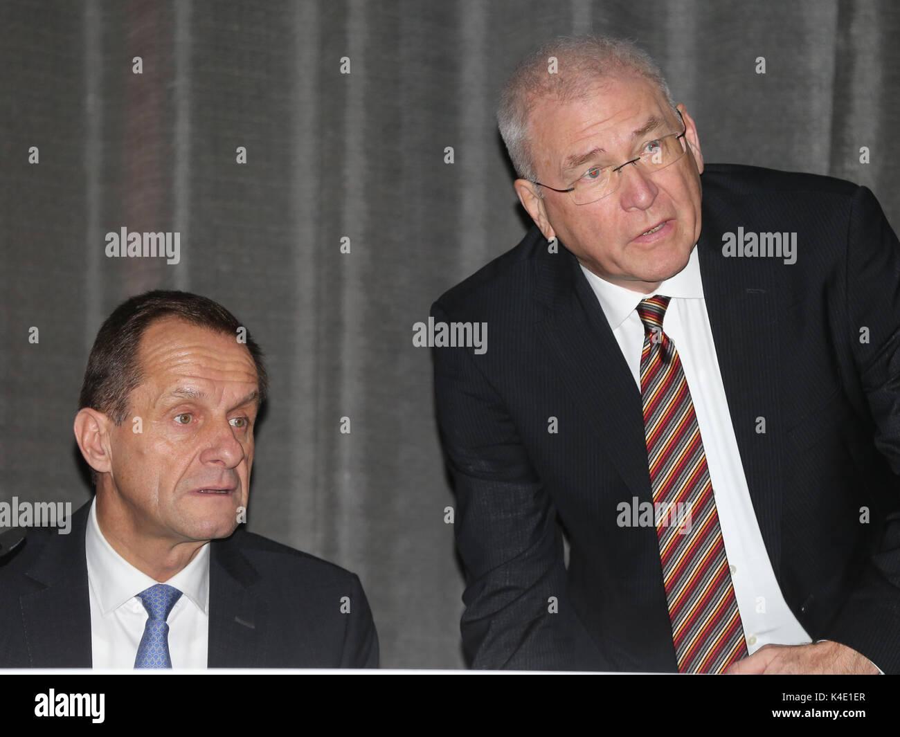 Dr Michael Vesper And Alfons Hörmann - Stock Image