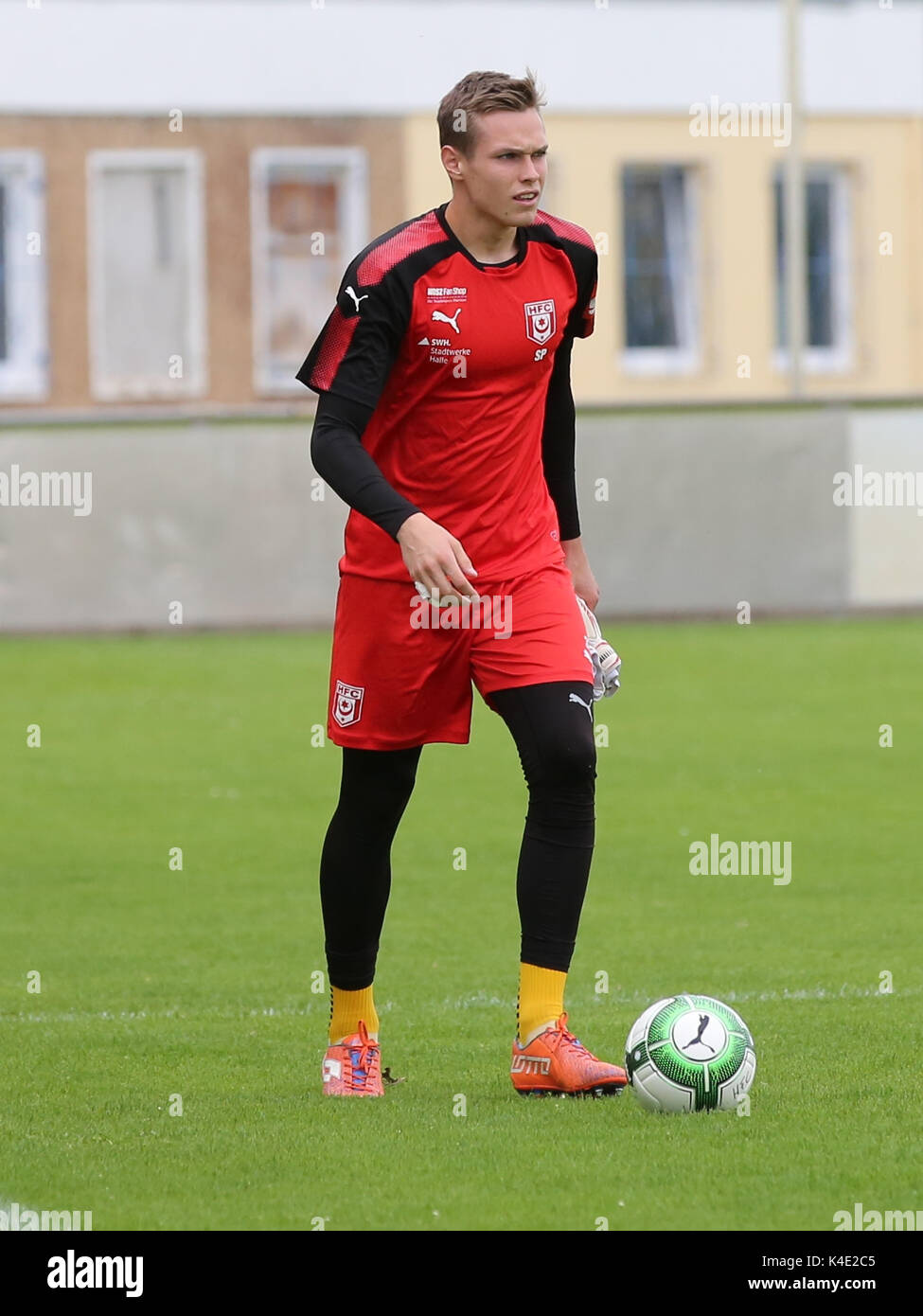 Goalkeeper Tom Müller Hallescher Fc - Stock Image