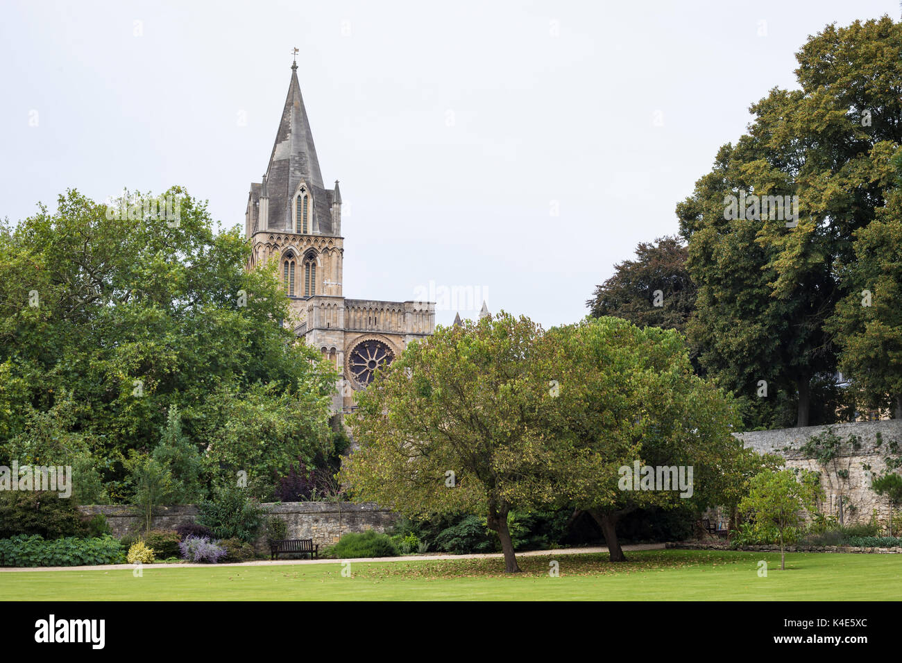 Oxford, United Kingdom - 3 September 2017: View of the Corpus Christi Auditorium in the city of Oxford. - Stock Image
