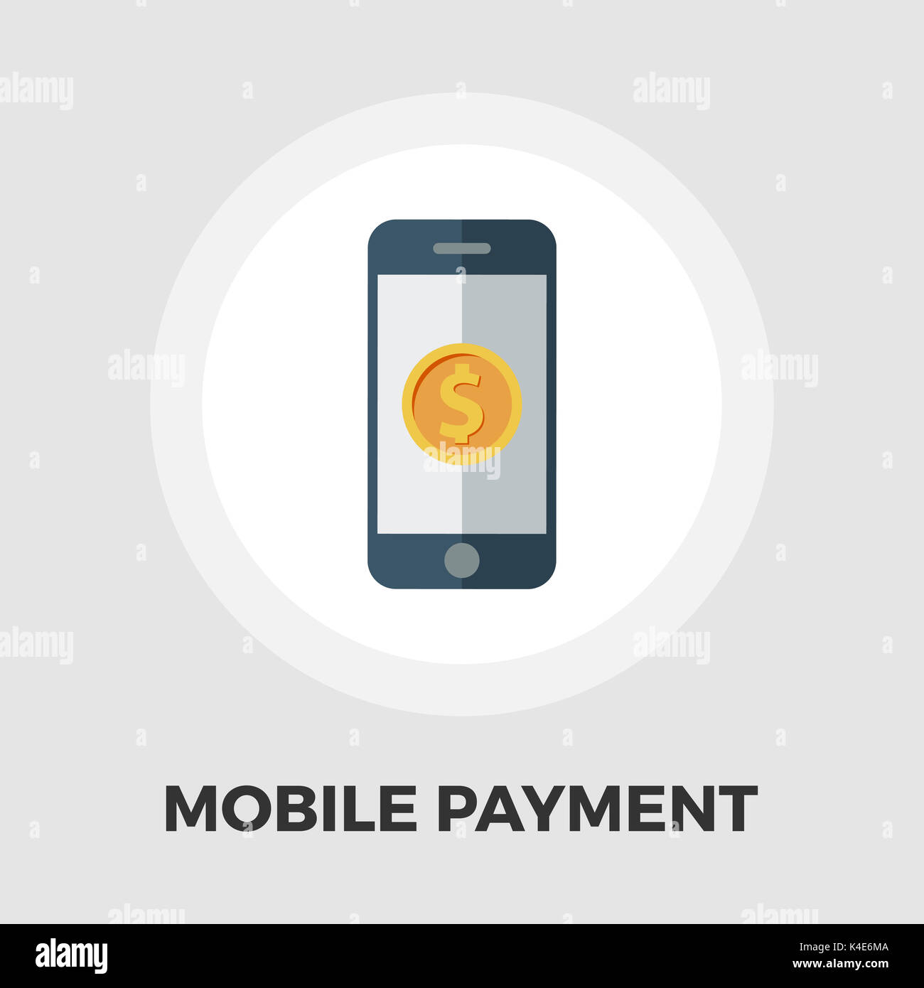 Mobile payment icon vector. Flat icon isolated on the white background. Editable EPS file. Vector illustration. - Stock Image