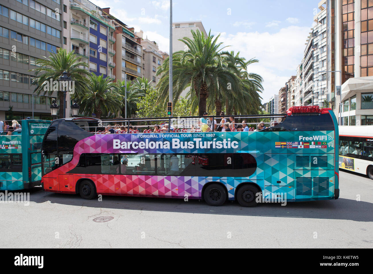Barcelona Bus Turístic in Barcelona the capital and largest city of  Catalonia 7d6ebe9dc9f