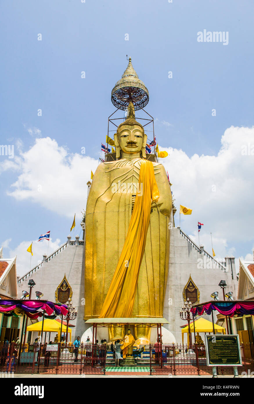 The temple of the Standing Buddha, Bangkok, Thailand. - Stock Image