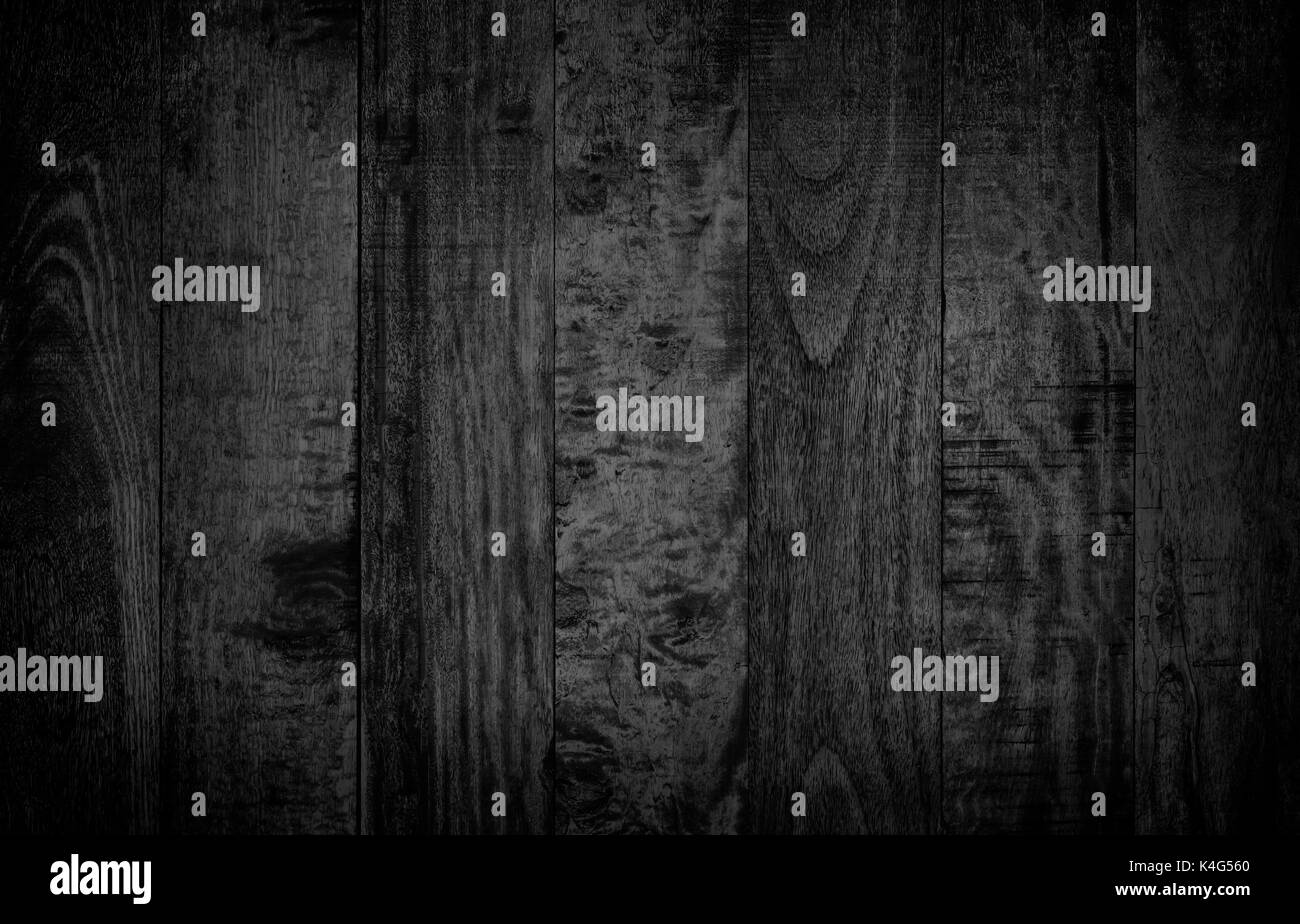 Abstract Rustic Surface Dark Wood Table Texture Background Close Up Wall Made Of White Planks