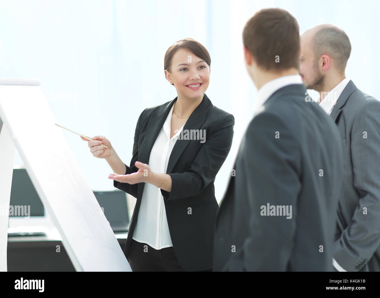Business colleagues in conference meeting room - Stock Image