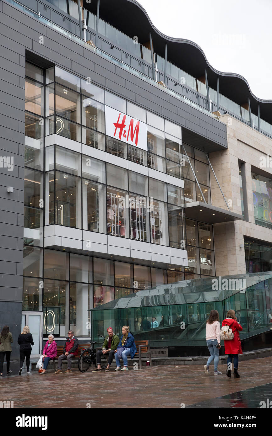 H&M store in Glasgow Scotland - Stock Image