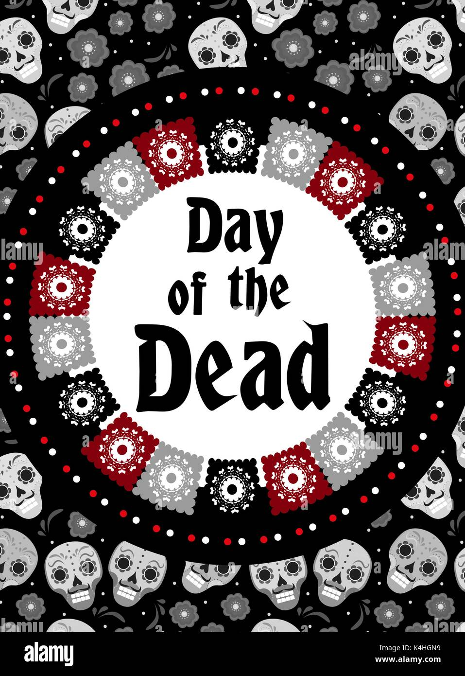 Day of the dead flyer, poster, invitation. Dia de Muertos template ...