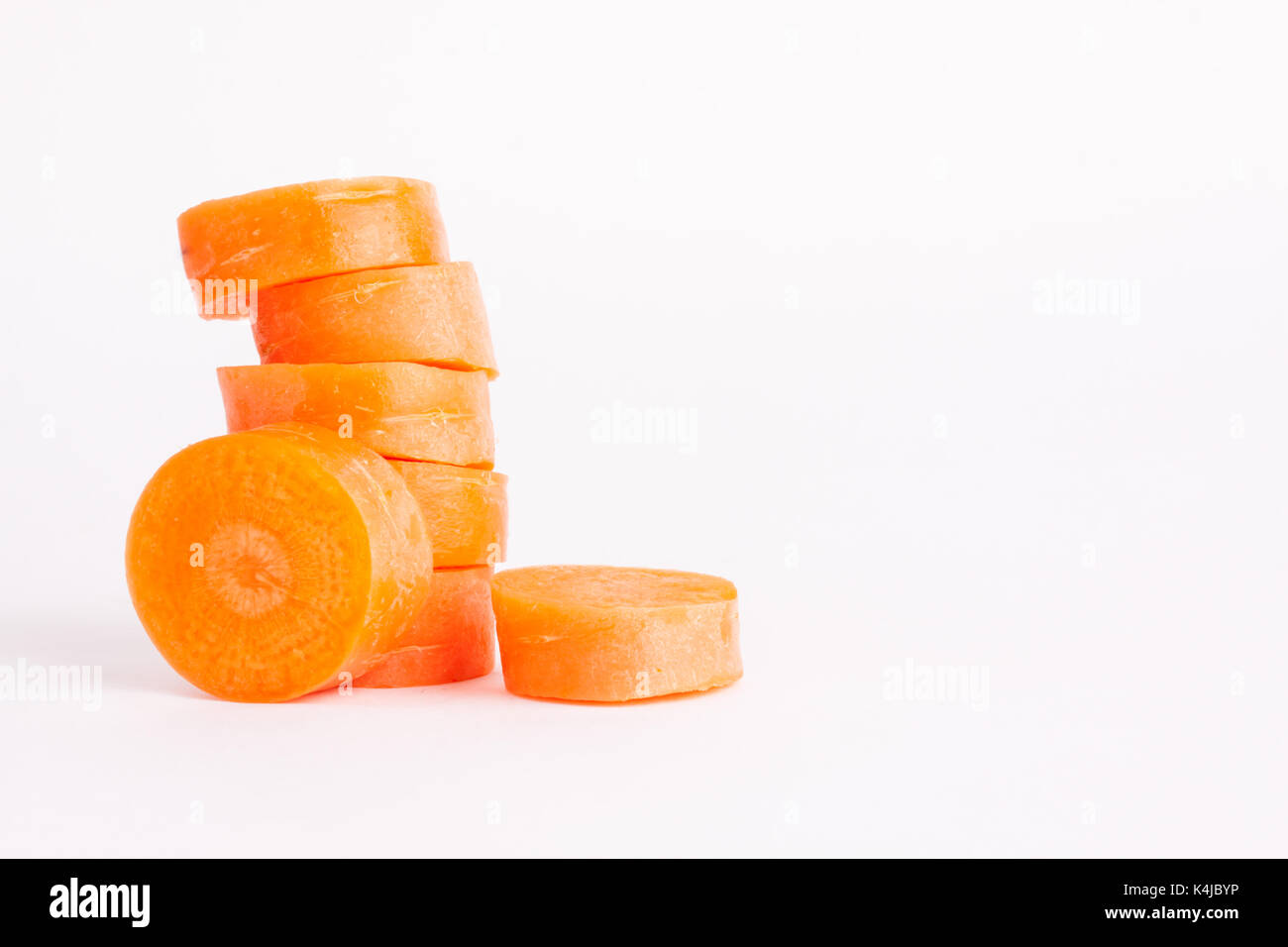 carrot slices - Stock Image