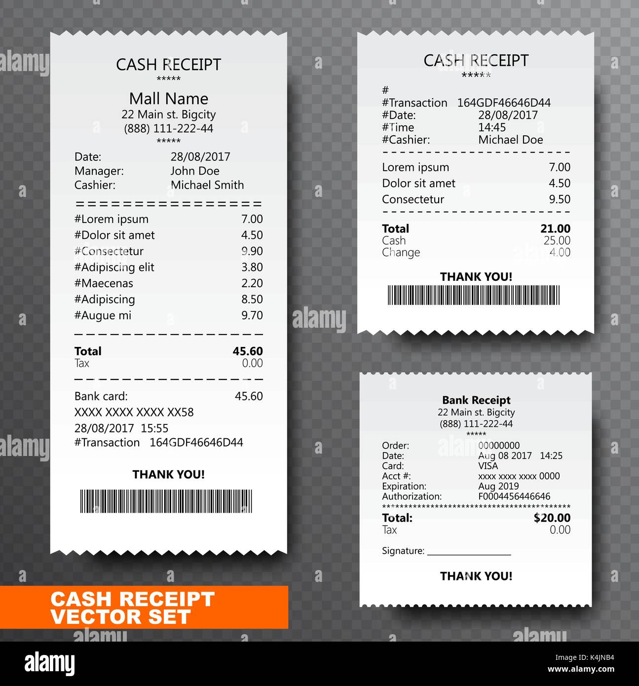 157763848 Paper Art On Check Financial-check amp; Stock Transparent Set Illustration Alamy Isolated Vector And - Image Reciept