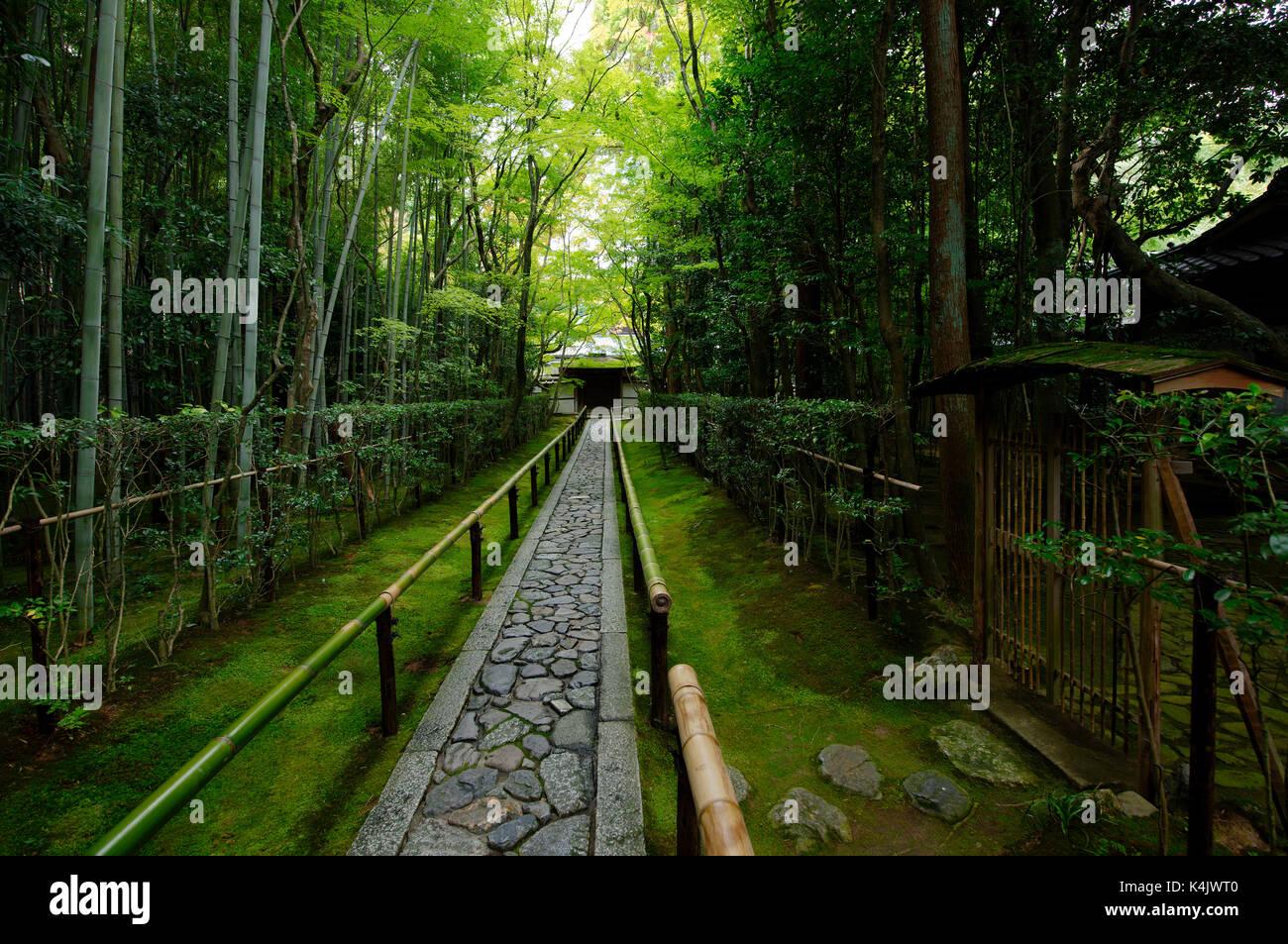 Koto-in temple narrow entrance path, Kyoto, Japan, Asia - Stock Image