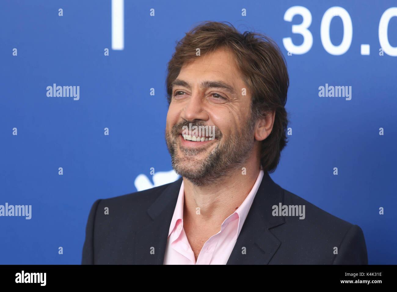 Lido Di Venezia, Italy. 06th Sep, 2017. Europe, Italy, Lido di Venezia, 06 september, 2017 : Javier Bardem, at the - Stock Image