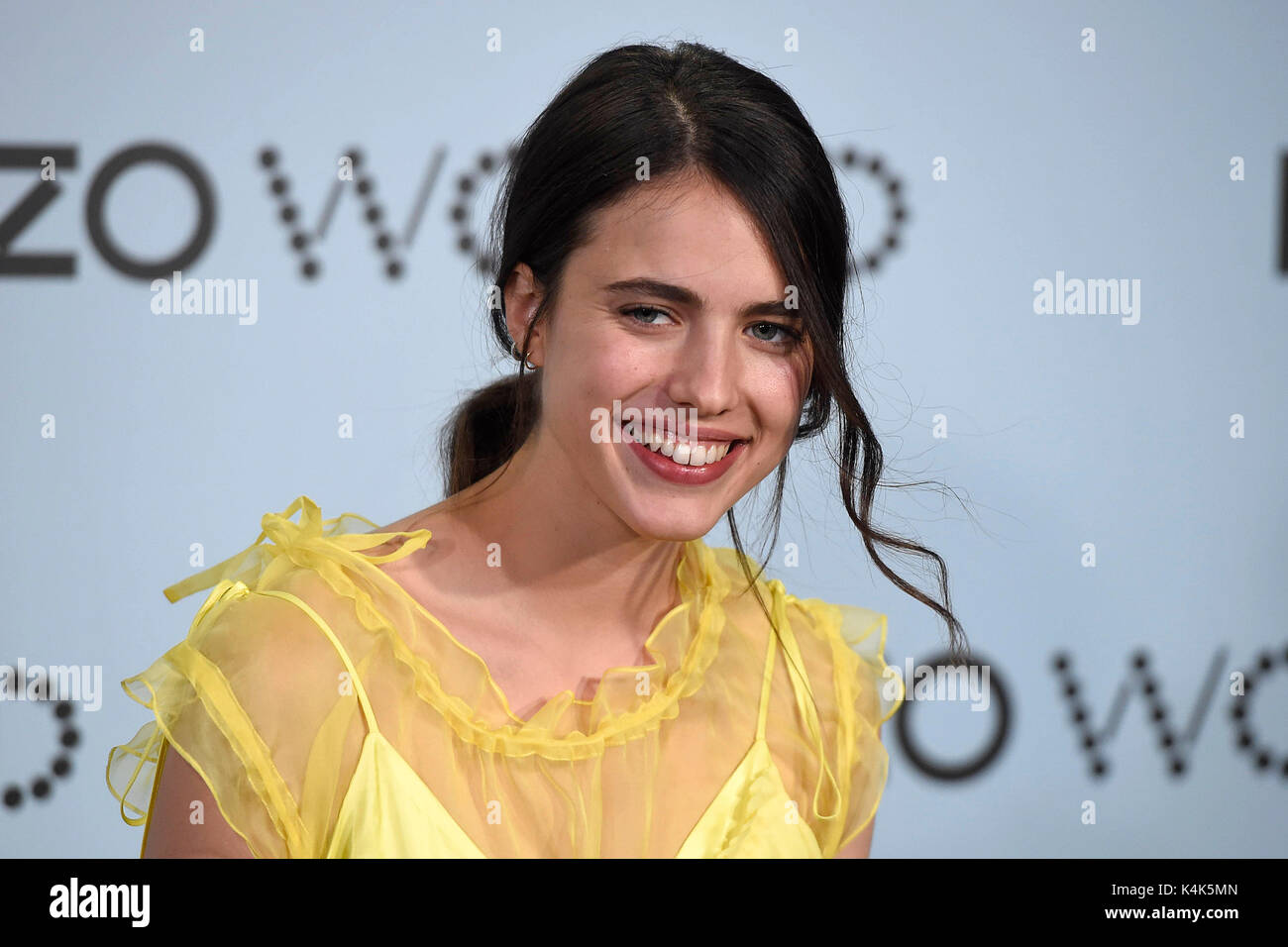 Margaret Qualley during a summer party of the signature 'Kenzo World' in Madrid on Wednesday 06 September - Stock Image